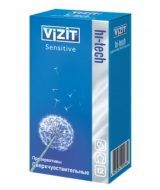 Кондом VIZIT HI-TECH sensitive,12 шт